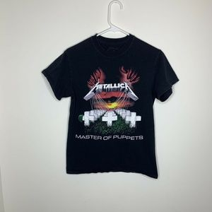 Metallica Mens S Black Master of Puppets Shirt